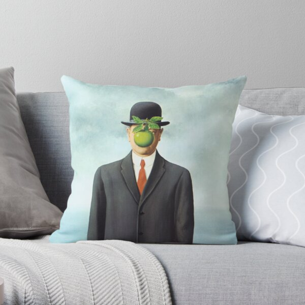 """Magritte's """"The Son of Man"""" Throw Pillow"""