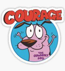 Courage Icon Sticker
