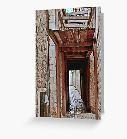DUBROVNIK ALLEY Greeting Card