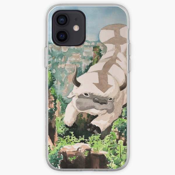 Appa Flying Through Mountains iPhone Soft Case