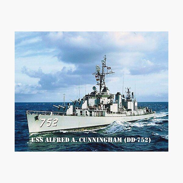 USS ALFRED A. CUNNINGHAM (DD-752) SHIP'S STORE Photographic Print