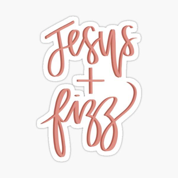 Jesus and Fizz Sticker