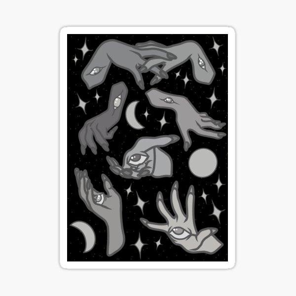 Eternal Hands in B&W Sticker