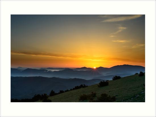 Sunrise, Monte Subasio, Umbria, Italy by Andrew Jones