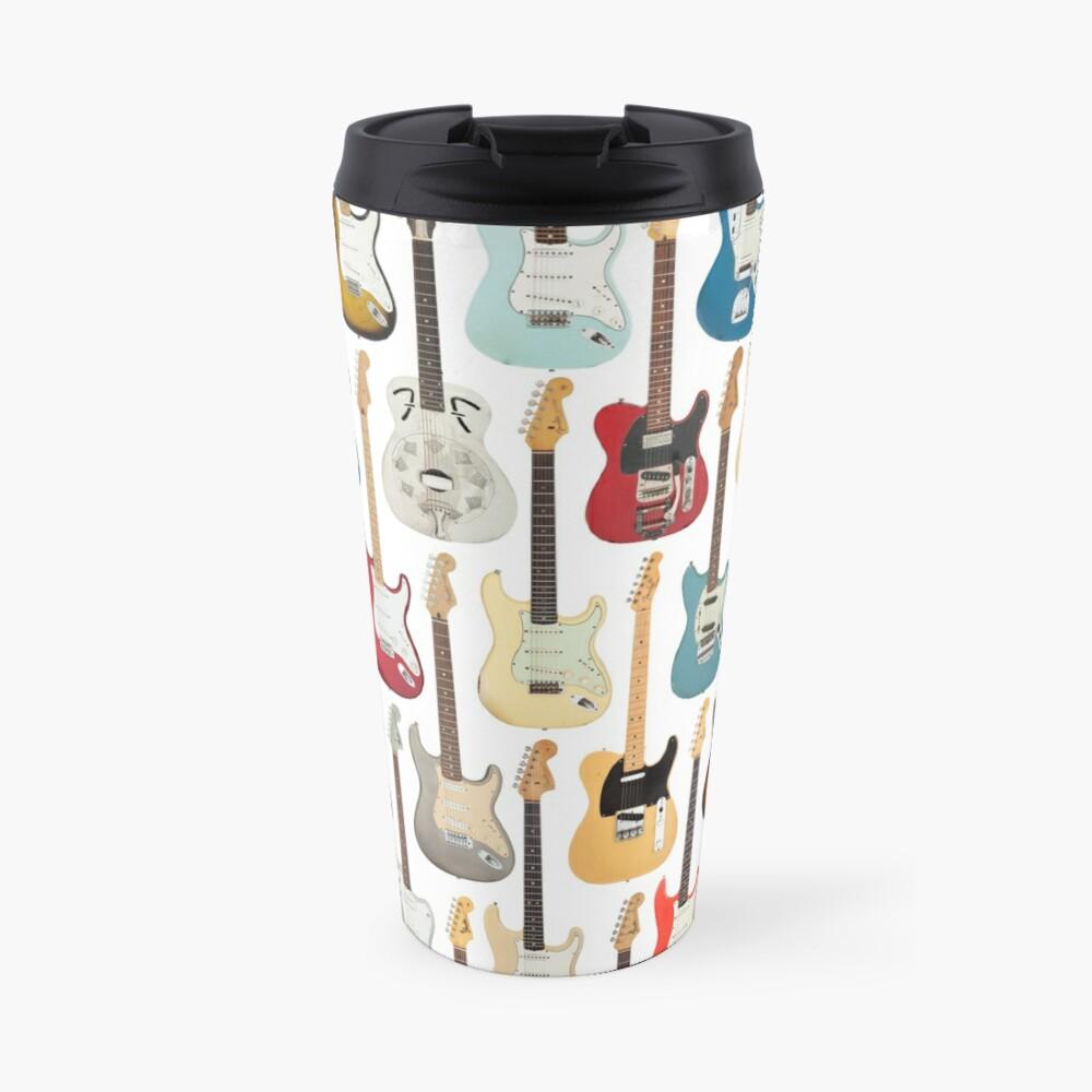 Vintage Fender Guitar Collection Travel Mug