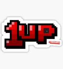 1up - Gamer Video Games Geek Sticker