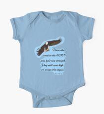 Eagles Wings.Isaiah  40:31 Tee One Piece - Short Sleeve