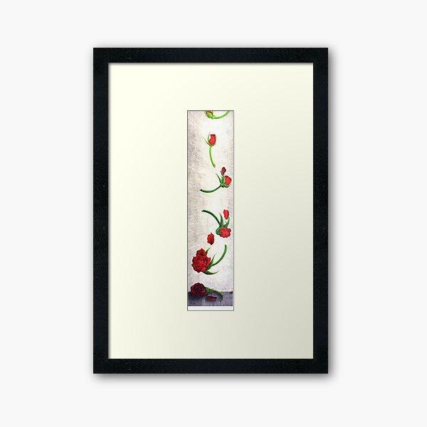 An Aging Rose Falls Framed Art Print