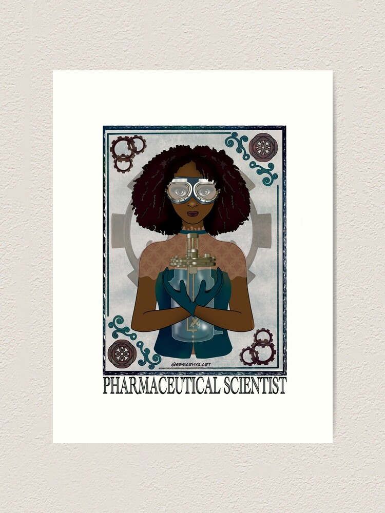 Alternate view of Pharmaceutical Scientist (STEAMpunk Art) Art Print