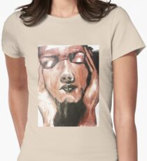 Face Painted Design Womens Fitted T-Shirt