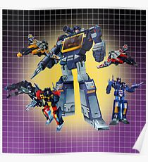 Masterpiece Soundwave and Cassettes Poster