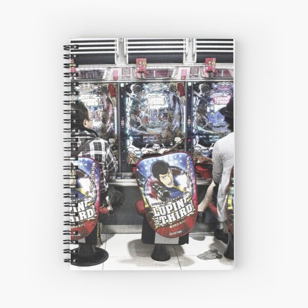 Gamers gonna game - video arcade in Tokyo, Japan Spiral Notebook