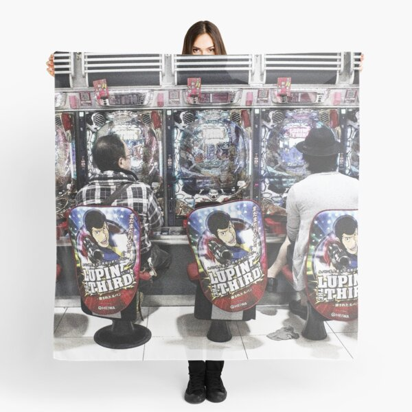 Gamers gonna game - video arcade in Tokyo, Japan Scarf