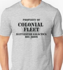 Colonial Fleet Battlestar Galactica Rec. Room Unisex T-Shirt