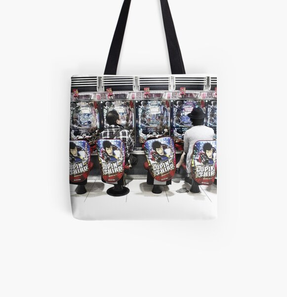 Gamers gonna game - video arcade in Tokyo, Japan All Over Print Tote Bag