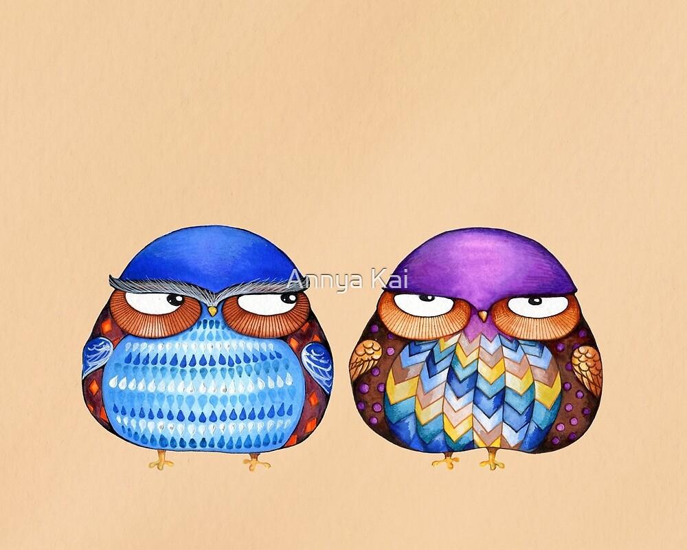 Grumpy Birds by Annya Kai