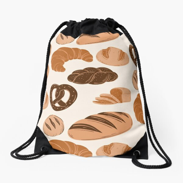 Bread Lovers Collage Drawstring Bag