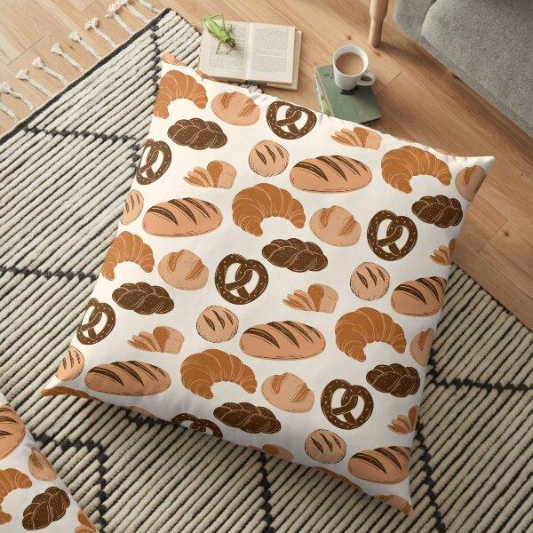 Bread Lovers Collage Floor Pillow