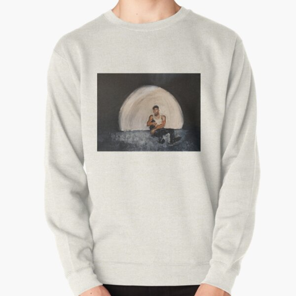 Giveon,album,take time,oil painting,small canvas,art,original,poster,fan art,cool,dope,wall decor,abstract,man,black,room,music,singer,soul Pullover Sweatshirt