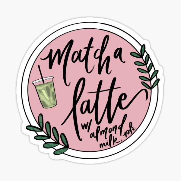 iced matcha latte almond Sticker