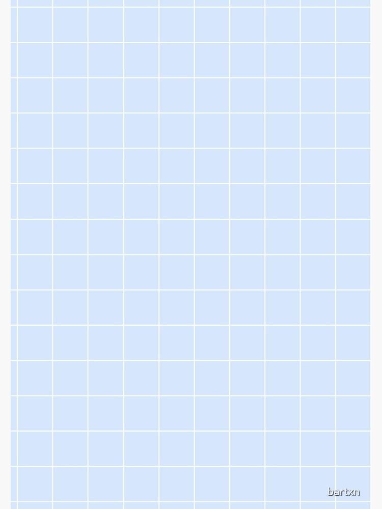 Powder Blue and White Grid Pattern by bartxn