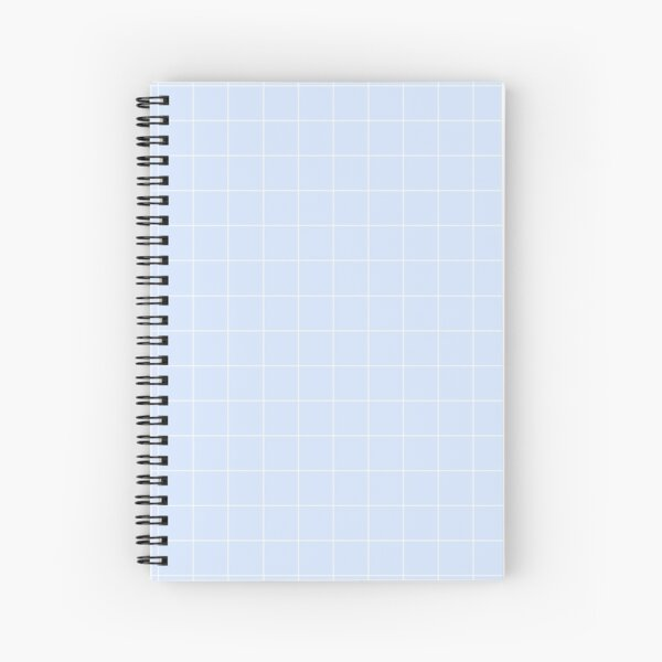 Powder Blue and White Grid Pattern Spiral Notebook