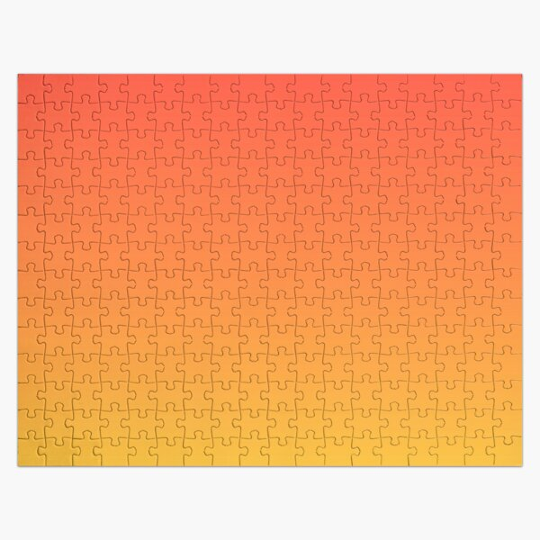 modern trendy abstract Yellow Orange Ombre Jigsaw Puzzle