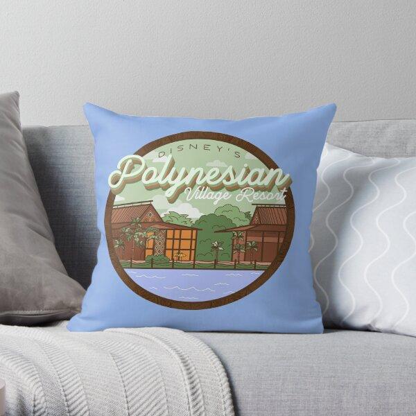 Polynesian Village Throw Pillow