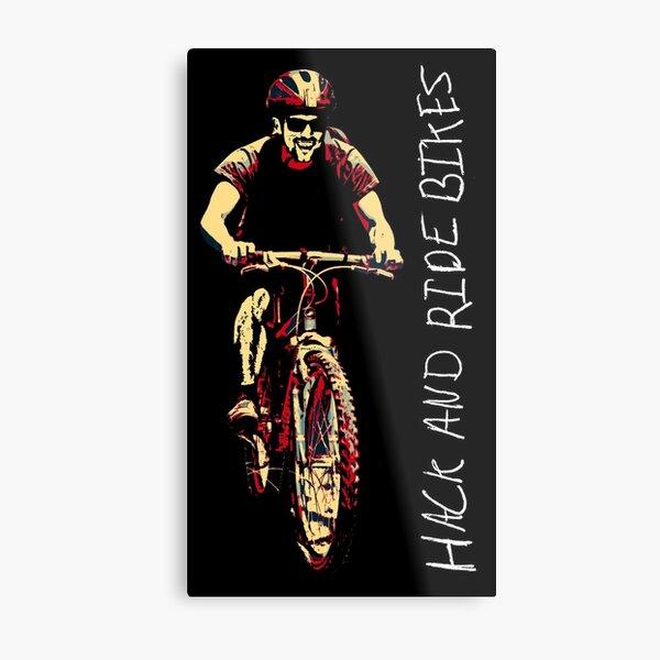 Have fun biking! Metal Print