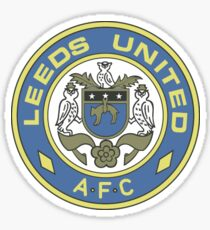 Leeds United Retro Sticker