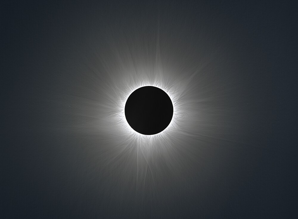 Solar Corona during Total Eclipse by Phil Hart