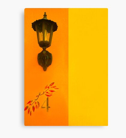 House Number 4 Canvas Print