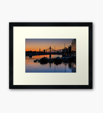 Thames Sunrise: London. Framed Print