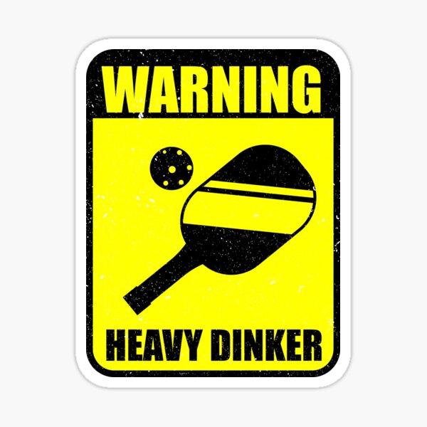 Pickleball Player Waring Heavy Dinker Sticker
