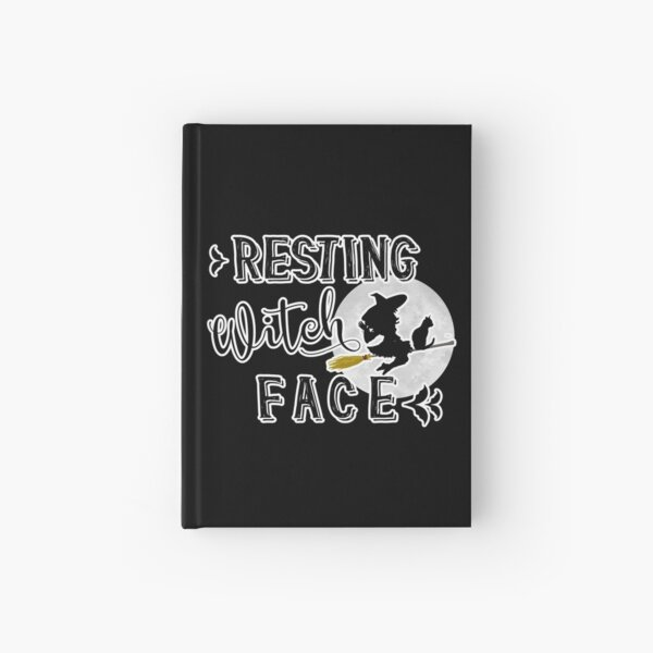 resting witch face Hardcover Journal