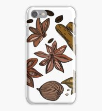 Hand drawn colored spices sketch set iPhone Case/Skin