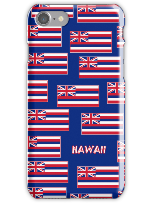 Smartphone Case - State Flag of Hawaii  - Blue Named by Mark Podger