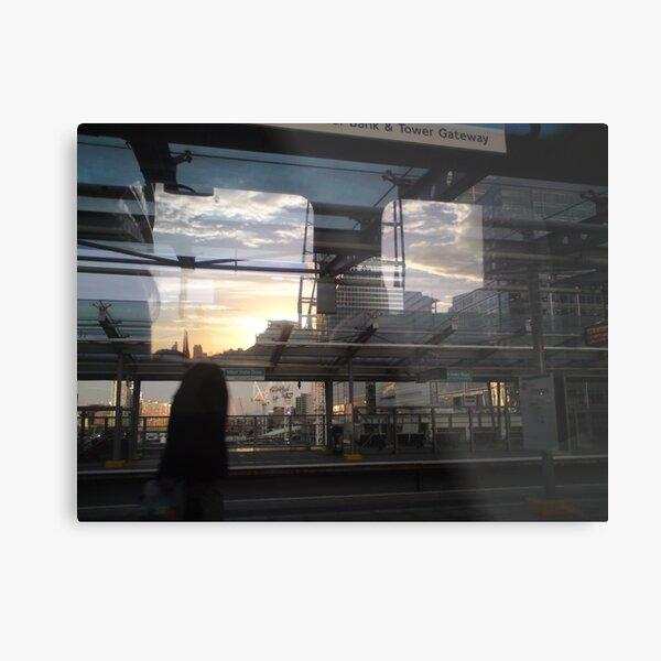 DLR - Docklands Light Refractions Metal Print