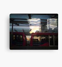 Docklands Light Reflections Canvas Print