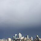 My beautiful blue, beautiful white, beautiful grey Canary Wharf by ravishlondon