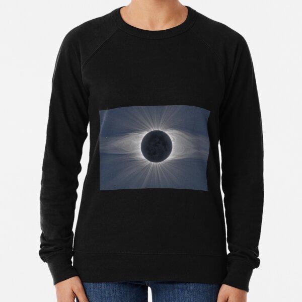 Beautiful image of the Sun's corona during a solar eclipse Lightweight Sweatshirt