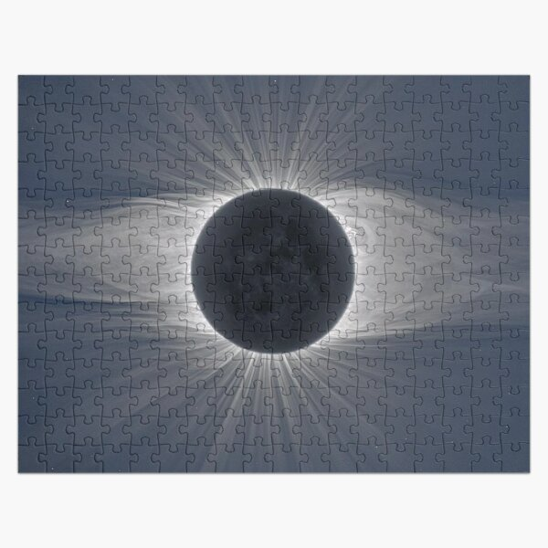 Beautiful image of the Sun's corona during a solar eclipse Jigsaw Puzzle
