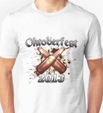 Oktoberfest Beer Bottles 2013 Slim Fit T-Shirt
