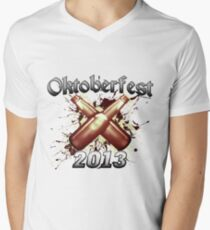 Oktoberfest Beer Bottles 2013 Men's V-Neck T-Shirt