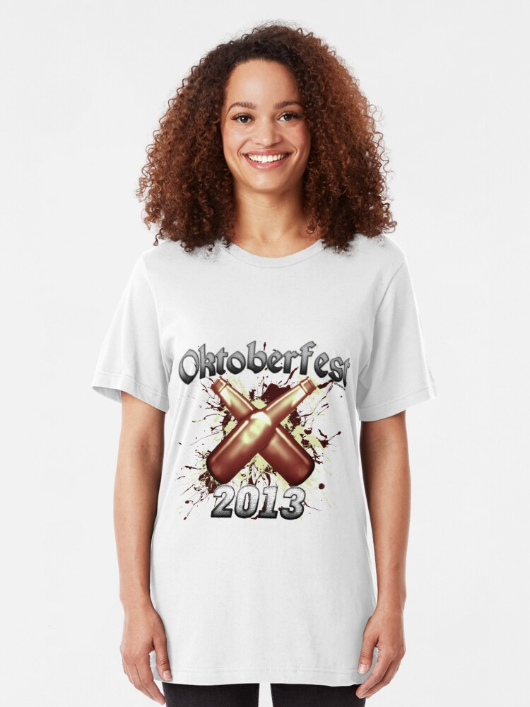 Alternate view of Oktoberfest Beer Bottles 2013 Slim Fit T-Shirt