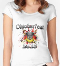 Oktoberfest Coat Of Arms 2013 Women's Fitted Scoop T-Shirt