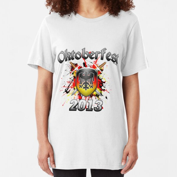 Oktoberfest Coat Of Arms 2013 Slim Fit T-Shirt