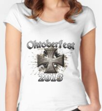 Oktoberfest Iron Cross 2013 Women's Fitted Scoop T-Shirt