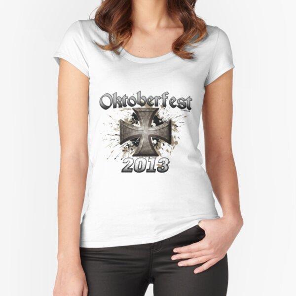Oktoberfest Iron Cross 2013 Fitted Scoop T-Shirt