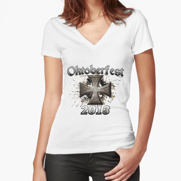 Oktoberfest Iron Cross 2013 Fitted V-Neck T-Shirt